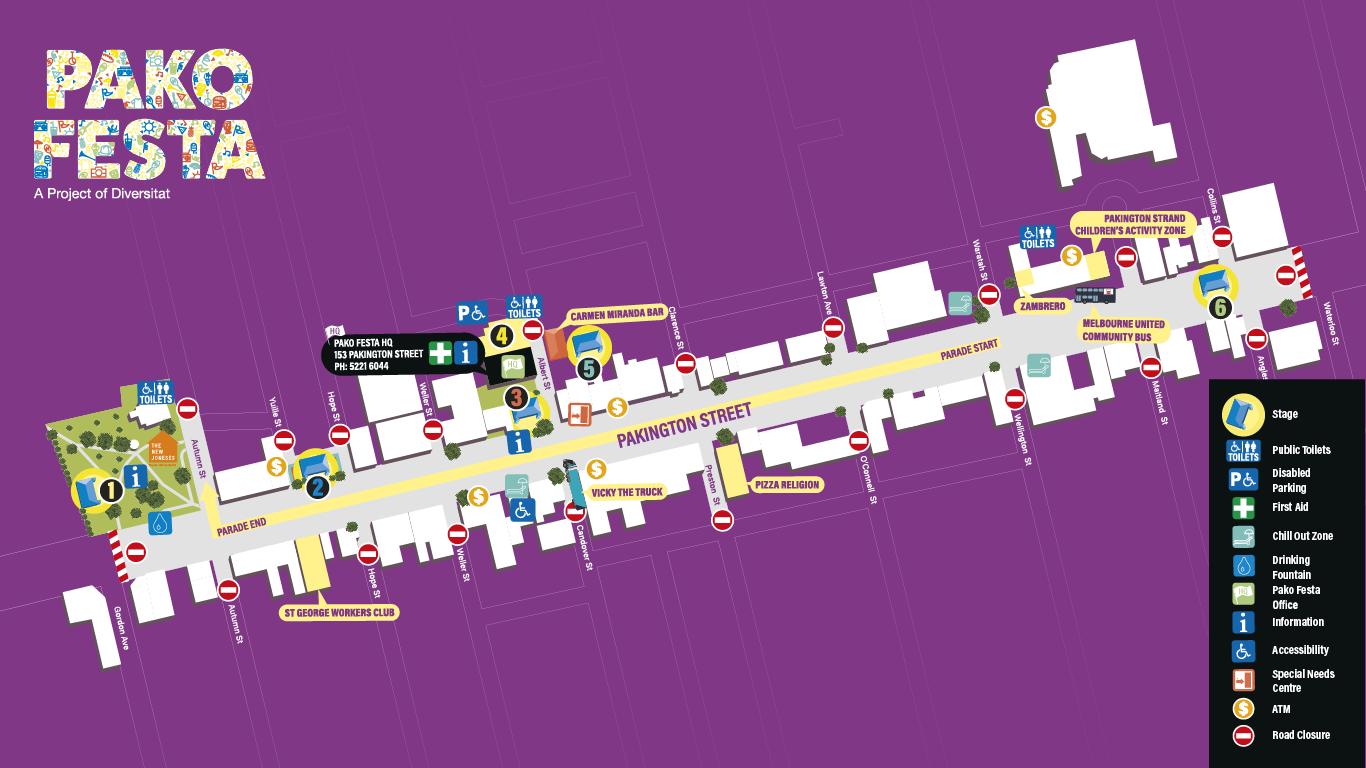Pako Festa Map